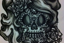 Los Skeletos Forever / All things skull, sugar skull, Dia de los Muertos, and skeleto-rific. From makeup to home decor this board will leave you wanting to explore more / by Phoenix Artistry