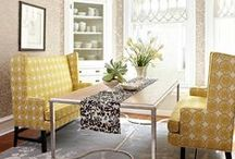 Inspiring Spaces ~ Dining Room / Break bread with friends and loved ones in comfortable style.