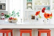 Inspiring Spaces ~ Kitchen / Make the hub of the house friendly, welcoming, and warm...everyone's going to end up there anyway.