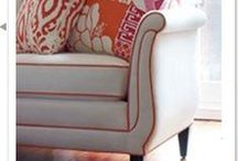 Favorite Things ~ Sofas & Chairs / Favorite spots for curling up with a book or a loved one - get cozy!