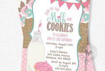 MILK + COOKIE BIRTHDAY PARTY / Milk & Cookies / Birthday / Party / Invitations / Decor