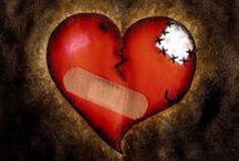 Heartache and Heartbreak / Heart break and break up is painful.