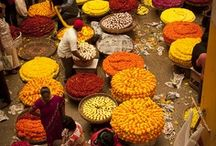 Markets in the world / Market. Place with food, fruits and vegetables and spicy.