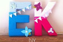 Crafts:  Letter Decor / by Rita Mercer