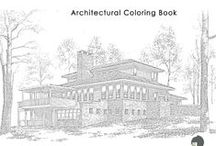 architectural coloring pages / architectural coloring pages / by The Gaines Group, PLC