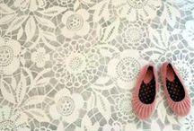 Stencilled floors