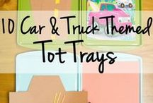 Kids Education - Tot School - Tot Trays / Activities and games to help little ones learn.