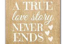 A Love Story / True love stories have no endings.