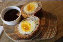 Good Eats | Apps | Deviled & Scotched Eggs / by Casey McMahon