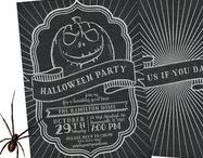 Halloween Invitations / Halloween invitations designed by Cloud 9 Paperie.  You can choose the printable DIY version (you print at home or at a local store) or the printed version.