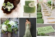 Green Weddings / A variety of wedding, shower, and party ideas in green (including teal) tints and shades. #green #color #weddings #wedding #shower #party #ideas