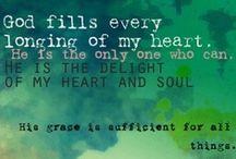Faith / I serve a mighty God.