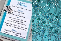 Menu Ideas / A variety of wedding, shower, party, and other special event menu designs. #wedding #bridal #shower #anniversary #vow #renewal #party #parties #event #special #events #menu #menus #reception