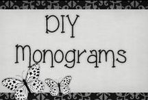 › DIY Monograms. / › monograms to do it yourself, very creative and easy to do..