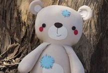 Stuffed Friends / Sewing inspiration, patterns and tutorials for a variety of plushies, stuffed animals and dolls.  Find out how you can use these great patterns/tutorials to GIVE BACK as part of The Fluff Project at Hopeful Threads! http://hopefulthreads.blogspot.com/p/fluff-project.html / by Kristy Smith / Hopeful Threads