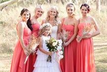 Coral Weddings / A wedding, shower, party, and other special event themed board with a coral color scheme. #coral #guava #palette #scheme #wedding #shower #party #flowers #bouquets #dress / by Something Floral™