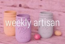 aftcra's Artisan of the Week / Shop aftcra's hand-selected new Artisan of the week for handmade products made in America. / by aftcra - Handmade Goods Made in the USA