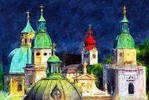 Salzburg / Die Stadt Salzburg liegt an der Salzach mitten im Salzburger Becken. Sie ist die Landeshauptstadt des gleichnamigen Bundeslandes und mit 145.871 Einwohnern nach Wien, Graz und Linz die viertgrößte Stadt Österreichs. Wikipedia