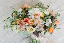 WEDDING FLOWERS / Beautiful florals, wedding bouquets, flower table centrepieces, buttonholes, flower wedding decorations