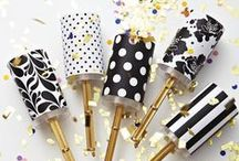 | m e | PARTY | black - gold | / There's no new years eve party without a little sparkle and some glitter. Here's some ideas for a lovely NYE's party, stylish, sophisticated and fun as well.