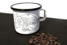 OUVER Coffee Mugs / A great mug for your coffee. Printed with a sly little recipe.