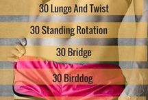 Quick Workout Ideas / We don't always have time for a long work out. Here are some speedy and quick workout ideas for when you only have a few minutes to spare in your day. You may not have time to work out every day but you do have time to do a quick workout at home for a few minutes every day.