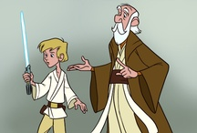 """Star Wars Art: Cutesified & Disney Cross Overs / This board is for fanart that would be classified as """"cute"""" or sweet. You'll find comic character cross over stuff in here and Disney stuff.  / by Erika Blake"""