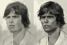 Star Wars Art: Drawings & Sketches / Here is a collection of pencil & ink artwork by many talented professional and fan artists celebrating their love of the Star Wars universe. / by Erika Blake