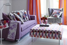 Floribunda / Dramatic patterns, sophisticated textures and an interesting mix of scale, teamed with vibrant contemporary colours results in a stunning collection. Graphic digital prints sit alongside glamorous cut velvets, colourful satin stripes and elaborate weaves.  Inspired by recent catwalk collections, Floribunda was created using monochromatic shades, through to daring hues of Orange, Fuchsia and Citrus.