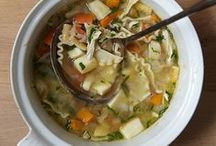 Chicken Soup Many Ways / These comforting recipes include classic chicken noodle soup and hearty chicken-and-sausage gumbo. / by Food & Wine