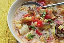 Fast Soups / These fast and delicious soup recipes include silky tortilla soup, gingered carrot soup and hearty white bean and ham soup. / by Food & Wine