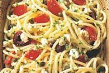 Cooking with Feta Cheese / Here, fantastic recipes that call for feta cheese, including a Greek salad with feta mousse and an easy spaghetti dish with tomatoes, black olives, garlic and feta cheese. / by Food & Wine