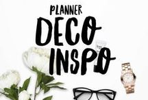 Planner deco inspiration / I love planning and I am always looking for new fun and interesting ways to use / decorate my planner.