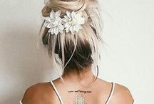 Wearing Flowers In Hair & On Clothes