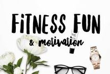 Fitness Fun / Motivation / We all need fitness motivation at one point or another. Pinterest is a great source for fitness ideas, inspiration and motivation. Also having some cute workout clothes does help!