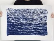 Our Handmade Cyanotypes / Cyanotypes handmade by us, and up for sale in our shop!