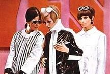 Fashion from the 1960s / A decade that broke many fashion traditions, mirroring social movements of the time. Mod fashion, go-go boots, the mini skirt, the pillbox hat, bell bottom jeans, tie-dye, batik & paisley prints characterized the 60s.