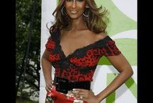 Iman / One of the most striking super models in the recent past, Iman has maintained her sophisticated glamour, beauty and style. She always looks coordinated, polished and modern.