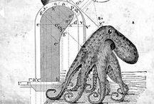 Libro Minimalia: Collages / Libro editado por varios autores del taller de literatura creativa MartesDeMentes. Portada e ilustraciones realizadas en collage digital a partir de libros de texto y enciclopedias de la primera mitad del siglo XX