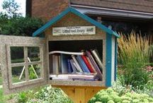 Fantastic Little Free Libraries / Cute little libraries where you can borrow a book and return a book. Take a look, you may just be inspired to create a free, diy neighborhood library for the adults and kids in your community.