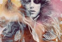 trippy hippy mixed-media / by Michele Elizabeth