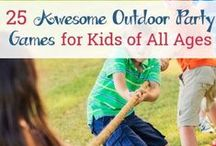 Outside Play for Kids / Get the kids playing outside with these ideas. Help your children develop a love for the outdoors with a variety of fun learning activities. Great for keeping kids from being bored during the summer!
