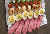 Finger Food And Party Platters / Snacks and buffet food. Suitable for match days, party's and when something sneaky between meals. / by Sarah Jayne Padwick