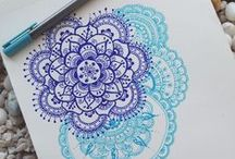 Mandala / Mandala, meditative art, drawing and colouring, mediation