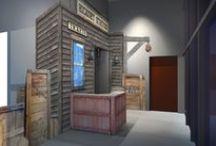 Concept Design / Concept designs for SG Studios themed interactive environments.
