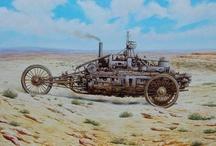 Steampunk &c. ‣ VIII. Steam cars, crawlers, walkers, &c. / ❦ Machineries of joyful steam! ❦ / by Ant Allan