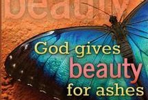 Beauty for Ashes (Isa. 61:3) / To all who mourn in Israel, he will give a crown of beauty for ashes, a joyous blessing instead of mourning, festive praise instead of despair. In their righteousness, they will be like great oaks that the Lord has planted for his own glory. - Isaiah 61:3