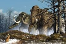 Science ‣ IV. Cenozoic fossils & paleoart : The Age of Mammals and the Coming of Man / by Ant Allan