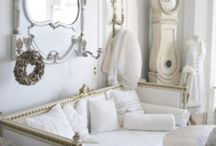 HOME interior design in white and pales / by Ronni Ascagni