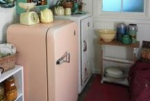 Stoves and fridges / We cook and store food every day so why not do it with style. We love retro fridges. We have three and they all go and go!!!